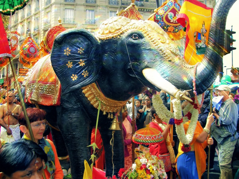 Ganesh Chaturthi Parade Paris September 2012