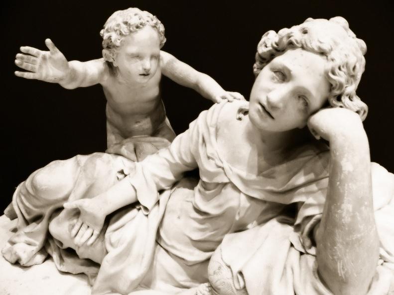 Statue funéraire de Marguerite Valon, by Jean Dubois