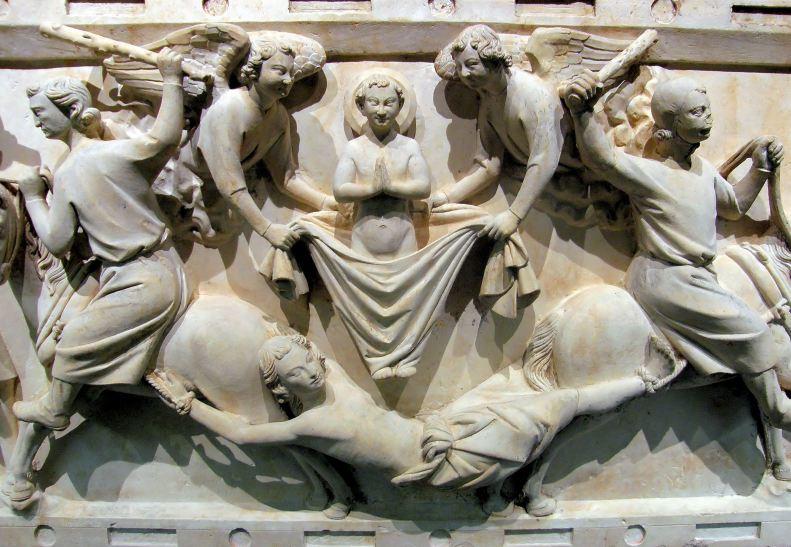 Scènes du martyre de saint Hippolyte (detail)